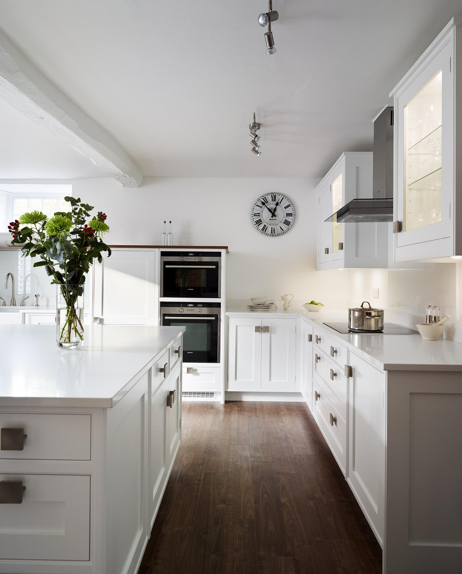 Stoke Goldington - Large and light shaker style kitchen with plenty of storage