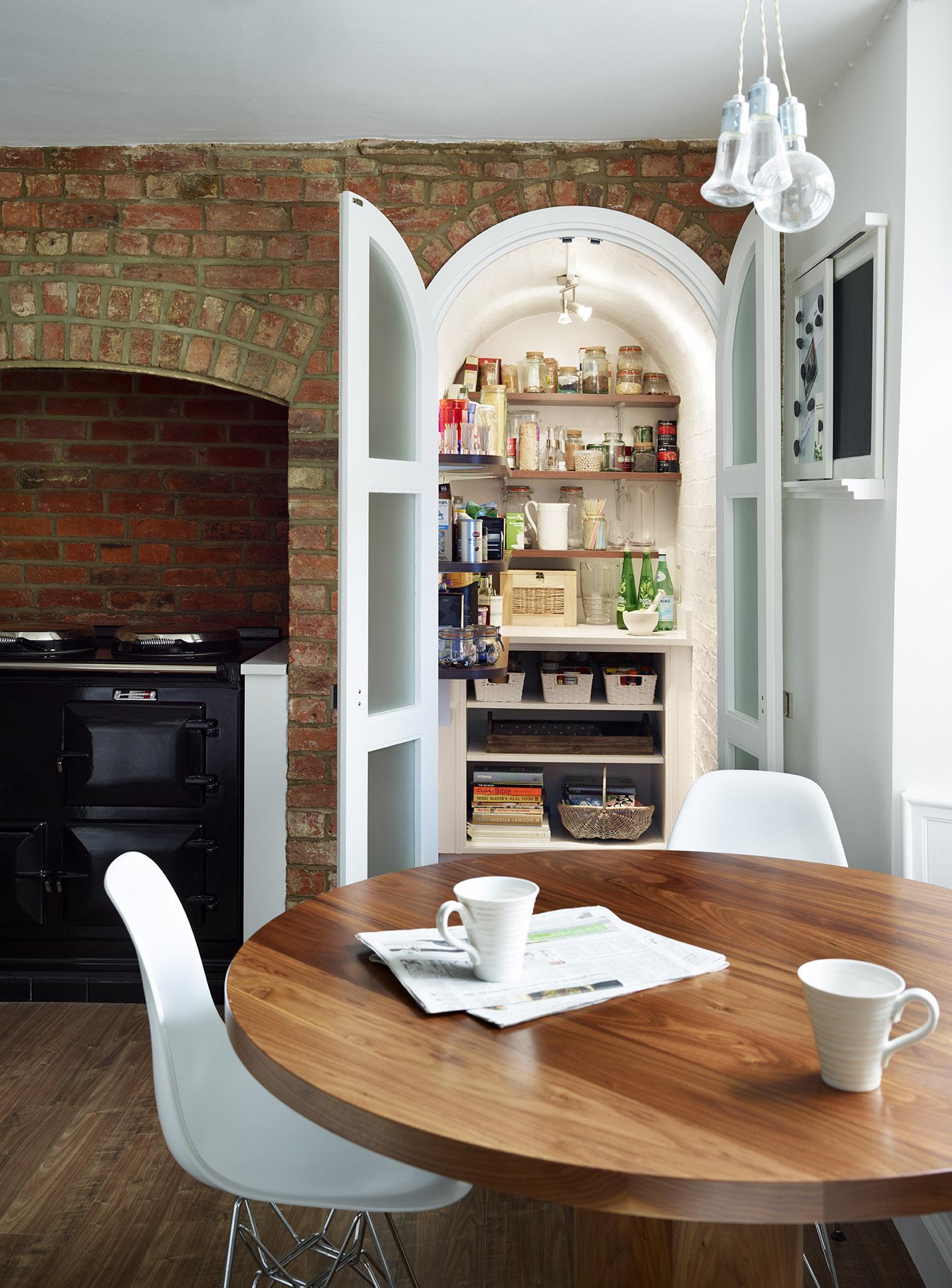 Stoke Goldington - Pantry with doors open revealing plenty of storage