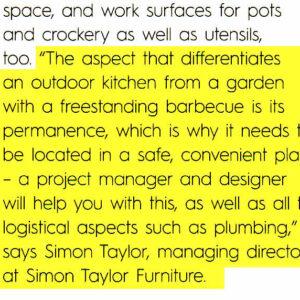 KBB Outdoor Kitchens - Simon Taylor Quote