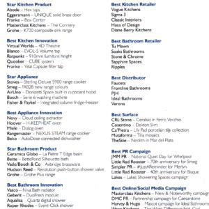 EK&B Business - Shortlist Awards